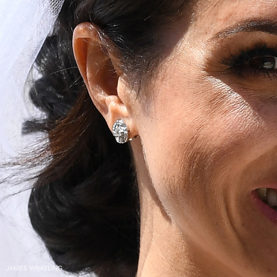 Meghan Markle's Cartier wedding earrings