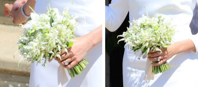 Meghan Markle's bouquet at her wedding
