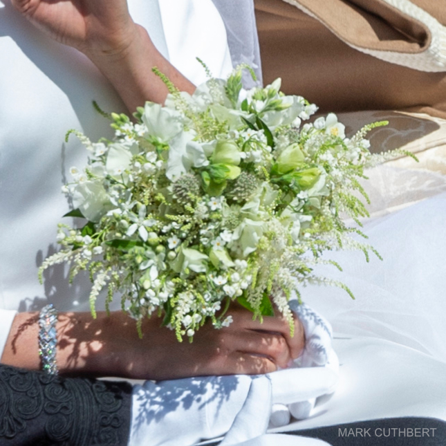 Meghan Markle's cartier bracelet and bouquet