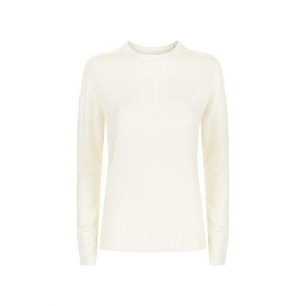 Victoria Beckham Cream Cashmere Sweater
